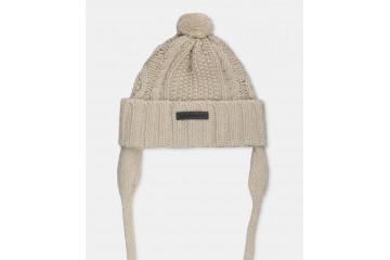 Шапка Knitted Pom Pom ivory