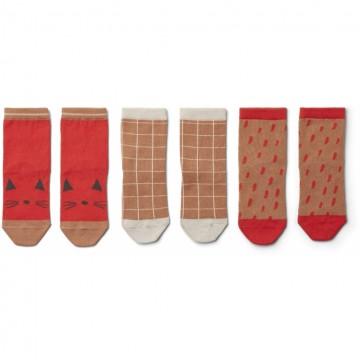 Купить - 3 x Носки Silas Apple Red Multimix