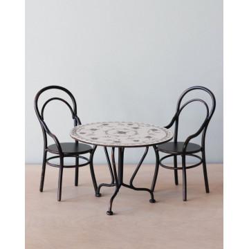 Игрушечный комплект 2 стула и стол